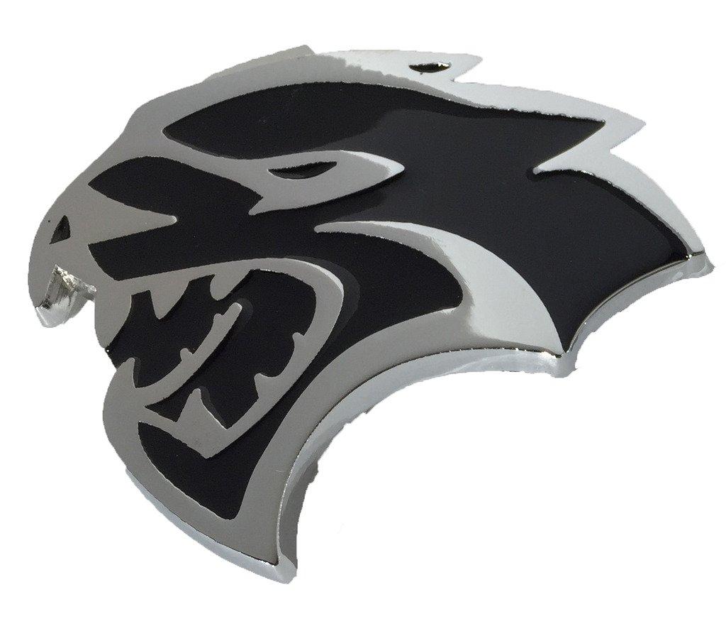 LH Side Hellcat Emblem (Larger Version) Replaces OEM for Dodge Mopar 68269896AA / 68269897AA SRT SRT8 Left Fender