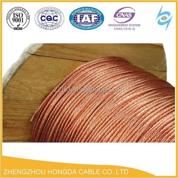 Bare Copper Stranded Copper Wire Low Price 4 6 10 16 25 35 50mm2 ...