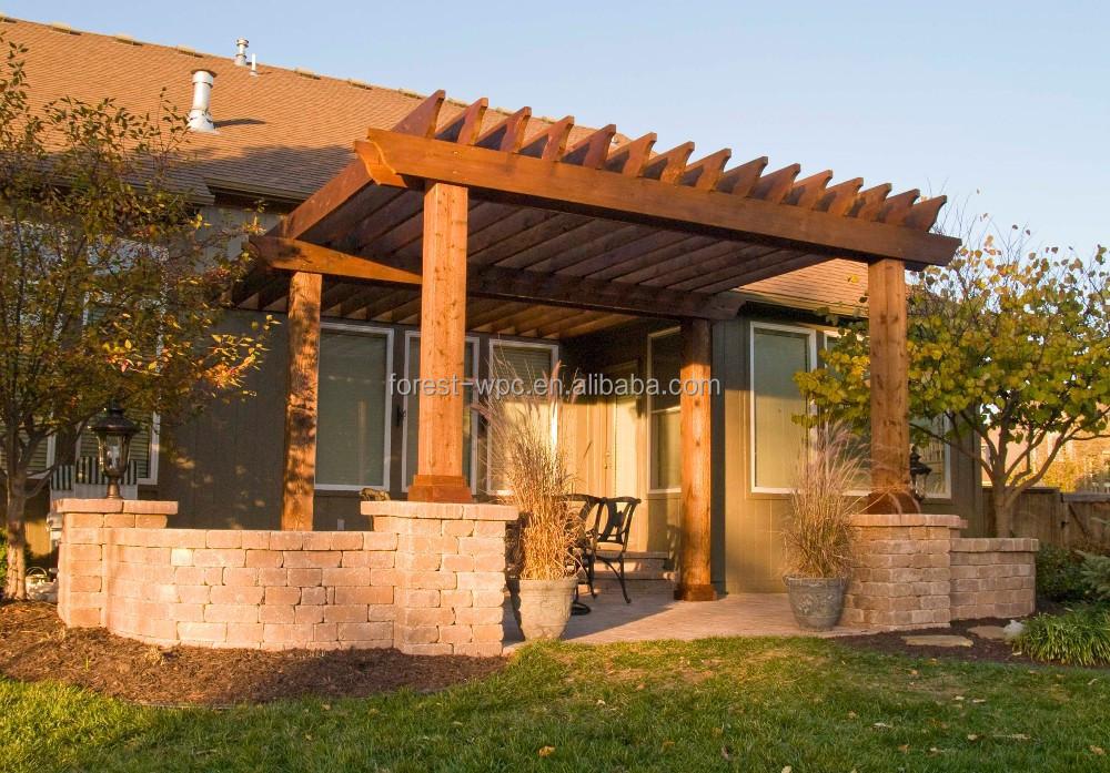 wpc patio pergola 3 x 3 m bois pergola wpc coulissante. Black Bedroom Furniture Sets. Home Design Ideas