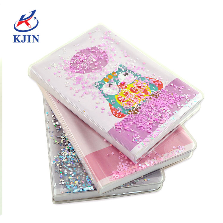 Customized design high quality funny perfect binding creative personalized notebook with liquid