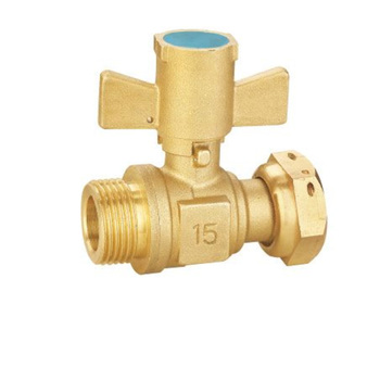 All brass copper high quality water oil gas brass ball valve with Sphenoid handle