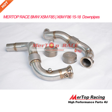 MERTOP <span class=keywords><strong>Đua</strong></span> B .. W X5M F85 | X6M F86 4.4L V8 Turbo 2015-17 catless Exhaust Downpipes