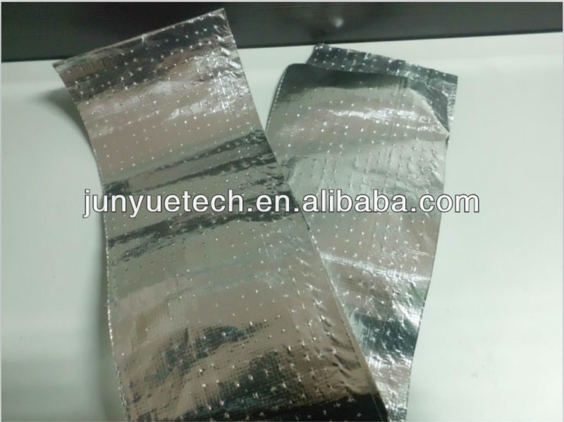 Perforated aluminum foil laminated woven fabric insulation material