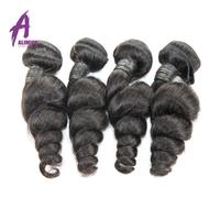 Unprocessed Virgin Black Virgin Hair Weave Cambodian Loose Wave Human Virgin Hair 100