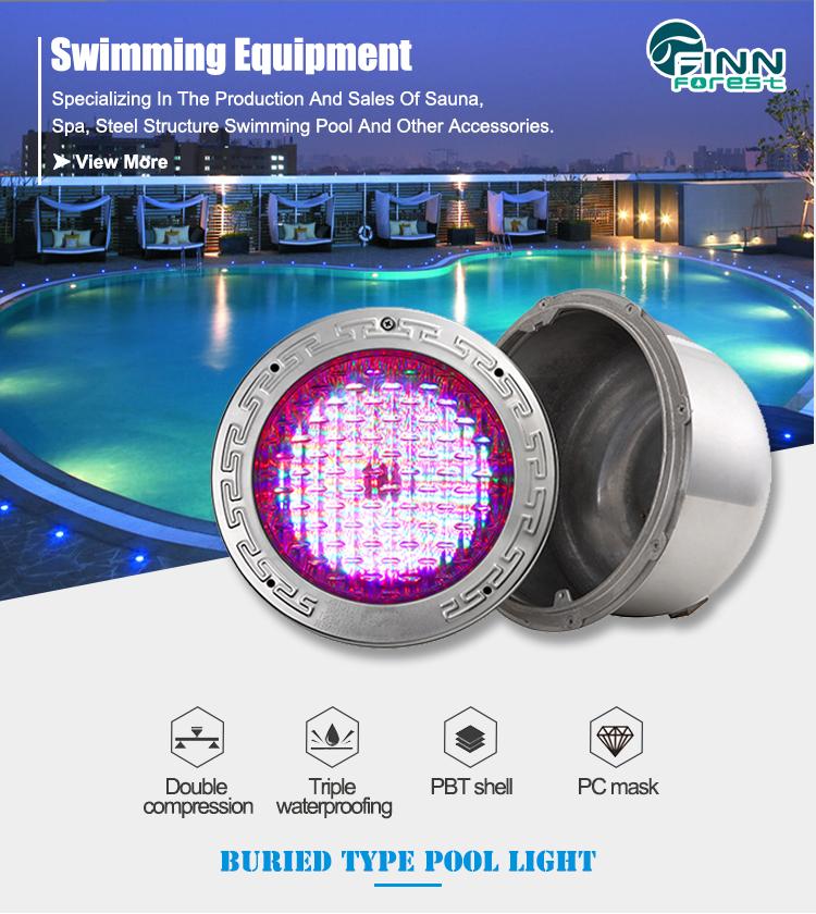 수영장 IP68 12V 수중 LED 풀 조명