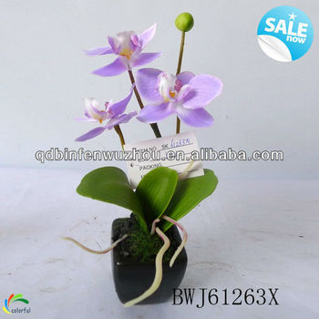 Handmade Plastic Artificial Flowers With Pot