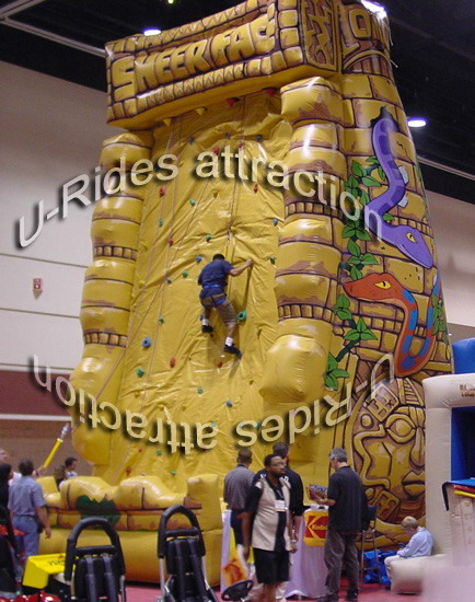 commercial giant jousting Inflatable Climbing hill for sport game