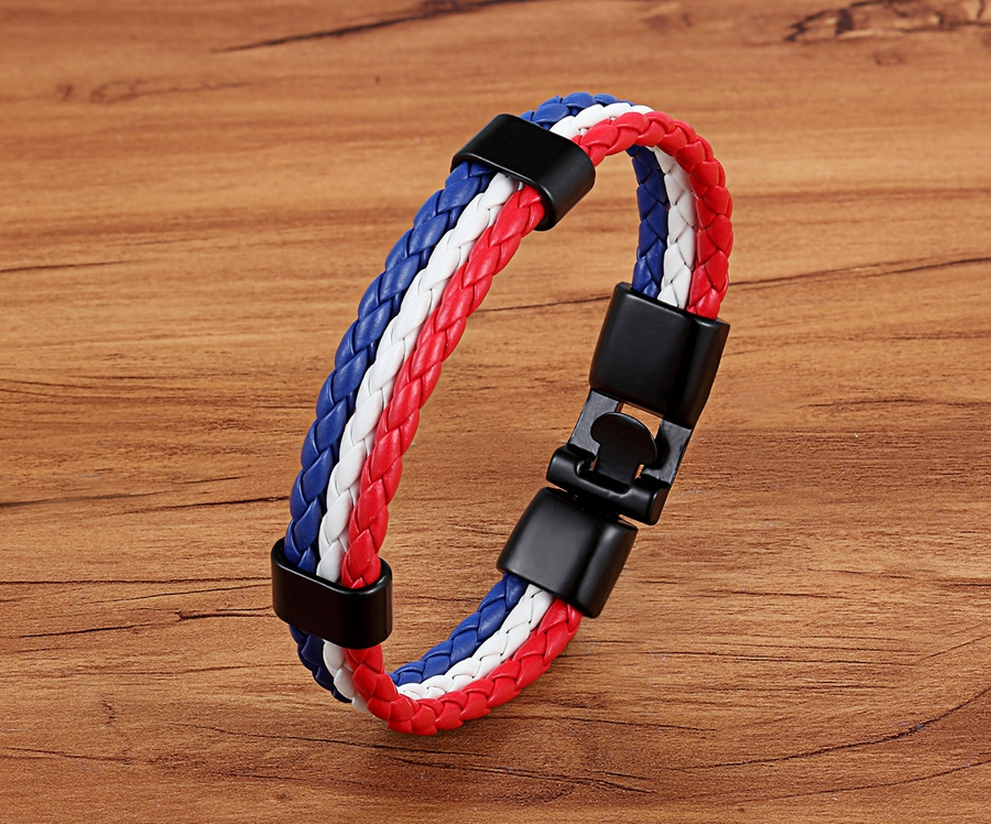 2018 Hot Sale New Fashion DIY Brazil Country Flag 가죽 Bracelets (High) 저 (Quality 붕대 Charm 우정 Bracelet 대 한 Men Women