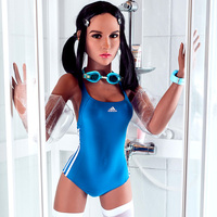 Inflatable doll 160cm Intelligent Internal vibration Strong suction Semi-solid silicone doll Fun underwear