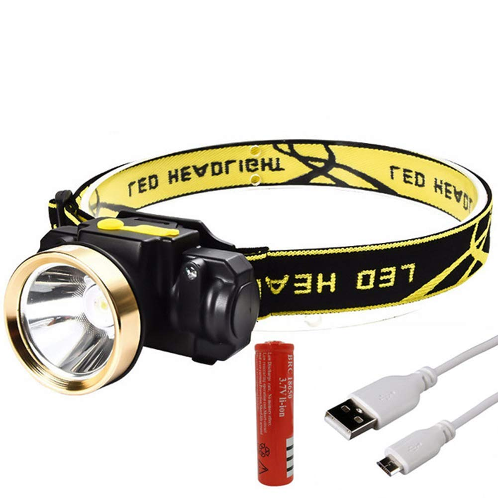 XUBA 10W Mini Rechargeable LED HeadLamp Induction LED Outdoor Camping Fishing Strong Flashlight with USB Charger