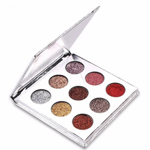 Popular Glitter Eyeshadow Palette Pressed Powder Makeup Shadow Private Label