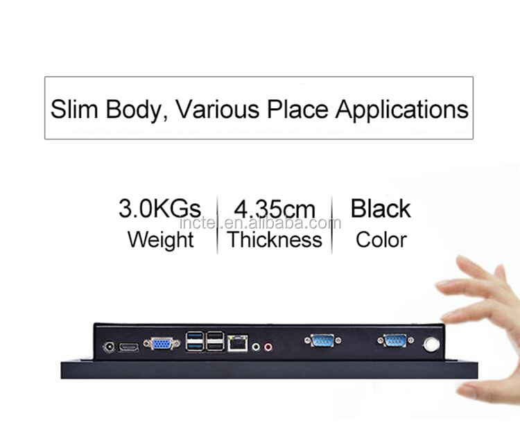 Fanless All In One Desktop With 14 Inch Desktop 10 Points Capacitive Touch Screen Intel J1900 Quad Core Partaker Elite Z11