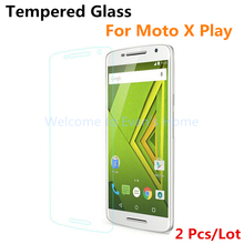 2 Pcs Premium Explosion-proof Tempered Glass Protective Film for Motorola for Moto X Play / X3 Lux Screen Protector, 5.5 inches