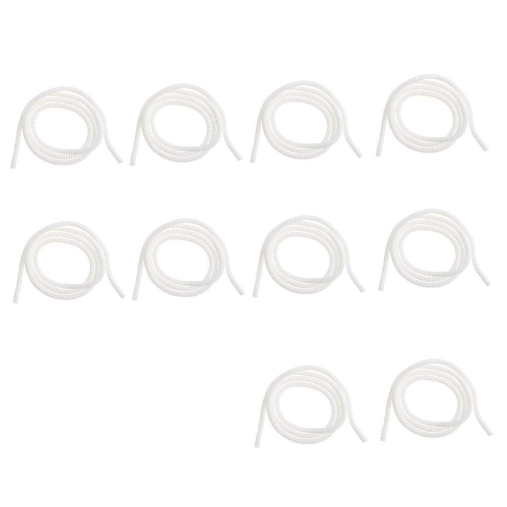 Homyl (10 Pack) DIY Cable Protector Spiral Cord Sleeve Management Wrap Wire for iPhone 8 7 Plus 6 5 SE Samsung Note 8 S8 S7 S6 Edge Charging Cable - white