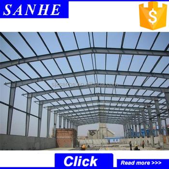 Steel Frame Prefabricated Factory Building Design - Buy Steel Frame ...