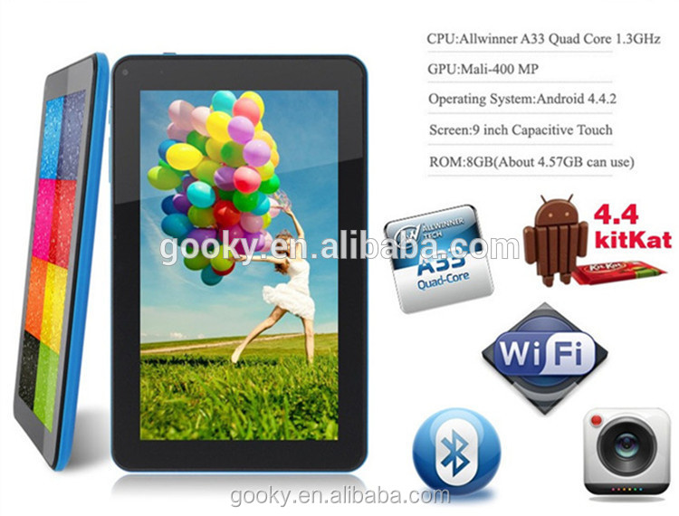 Allwinner a33 quad core 7inch android 4.4 easy touch tablet pc games download