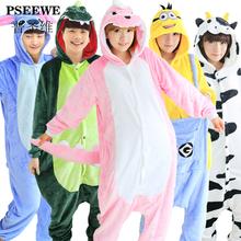 women's Sleepwear Hot autumn and winter pajamas . Cute animal cartoon piece flannel pajamas . Couple pajamas Ms. tracksuit