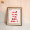 Simple Orange high quality unique 6x8 wood photo picture frames gift for house ornament