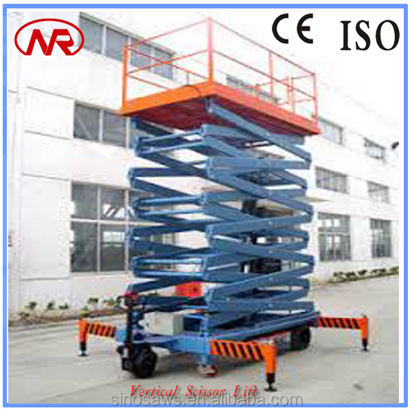 4 Wheel 300Kg Vertical Scissor Lift Hand Hydraulic Electric Tables