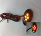 LED Red Tail Light Lamp License Plate Black Plastic Cover with 4 red leds
