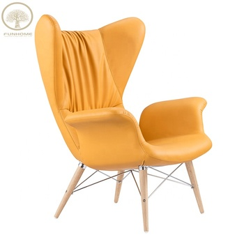 Wholesale Cheap Single Armchair Leather Arm Chair Yellow ...