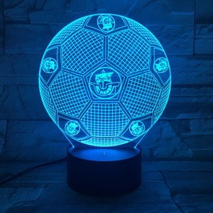 Football Club LED Lamp USB Novelty 3D Night Lights LED Touch Lamp for home deco