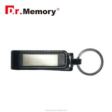 Dr.memory 2016 new products leather usb flash drive memory stick with mini metal card&key ring best product to print logo