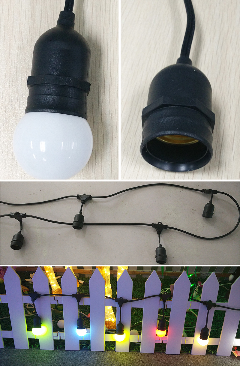 E27 festoon lights outdoor vintage string lighting