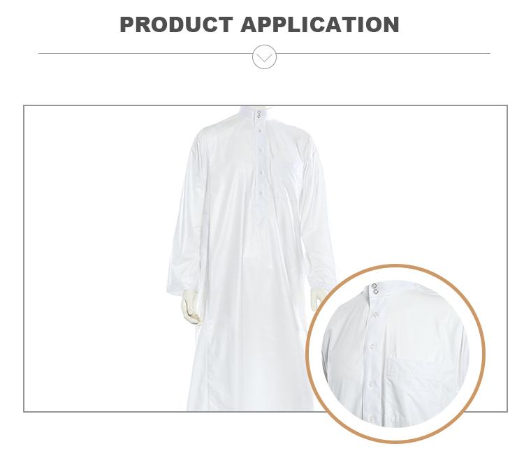 Goedkope 100% gesponnen stof heren arabische buis gewaad