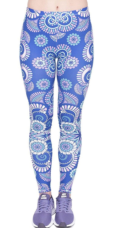Eelivero Printed Leggings Basic Cheap Patterned Leggings Yoga Workout Leggings Women Girls Spandex Leggings