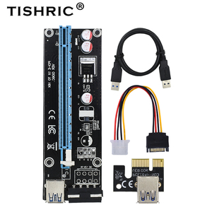TISHRIC PCIE PCI-E PCI Express 1x to 16x USB 3.0 to Molex Cable Adapter For Mining Riser Card