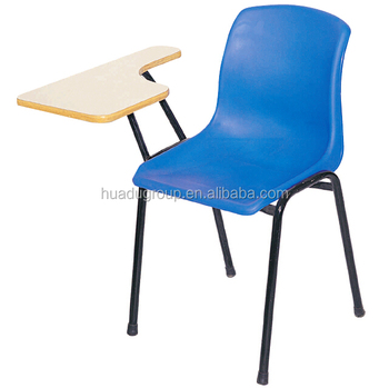 stacking plastic chair with writing pad lecture chair with writing