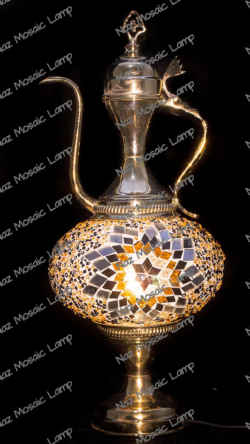 Mosaic Table Lamp,Lamp Shade,Turkish Lamp,Moroccan Lamp,Pitcher Lamp,Ewer Lamp