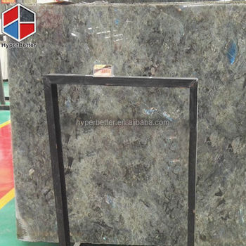 Labradorite blue polished granite slab