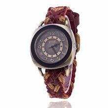 Модные Винтажные женские и мужские часы из натуральной кожи с античной оплеткой, роскошные брендовые наручные часы CCQ, Прямая поставка(Китай)