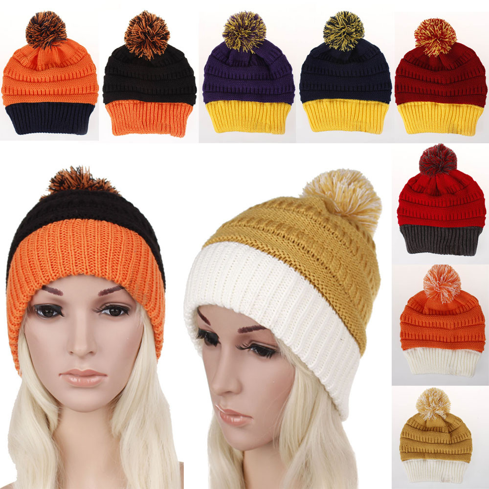 6d04a2f3 Women Warm Winter Hat Knitting Snappy Hermal Knited Ski Protection ...
