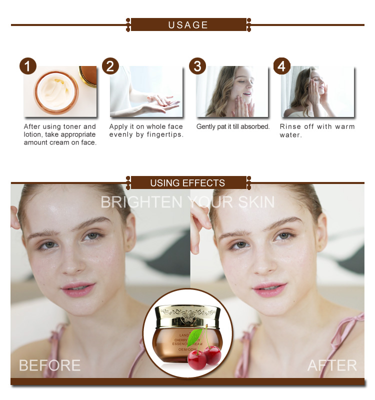 Organic Beauty Products Cherry Essence Moisturizing Whitening Beauty Cream Manufacturer