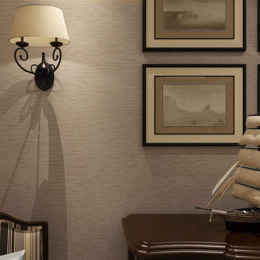 HANMERO Wallcoverings Deep Embossed Modern Solid Textured Luxury 3D Wallpaper Rolls For Living Room Bedroom Walls Beige