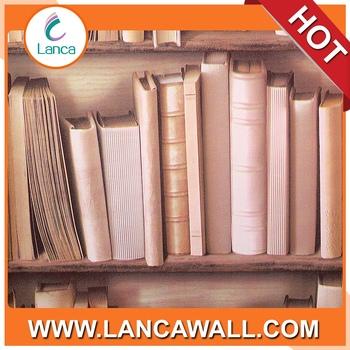3d Bibliotheque Motif Papier Peint Rouleaux 3d Bureau Salon Decor