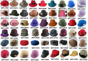 Un Simple Colección De Fieltro De Lana Sombreros De Las Mujeres ... 7f45de99507