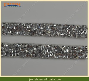 Adhesive Small Crystal Mesh Decorative Rhinestone Ribbon