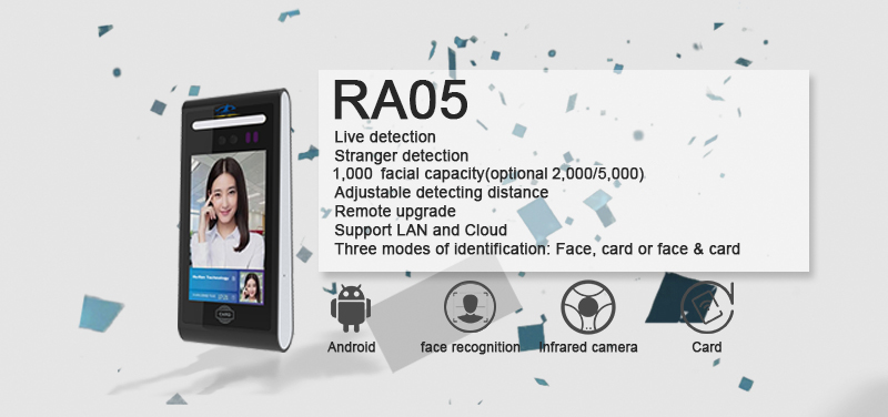 HF-RA05 Android Wiegand RS232 Face Recognition Cloud Time and Attendance Recording with Free SDK