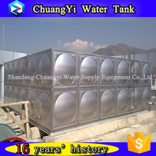Alibaba hot sale low price SUS201 water storage tank/sectional stainless steel sea water storage tank