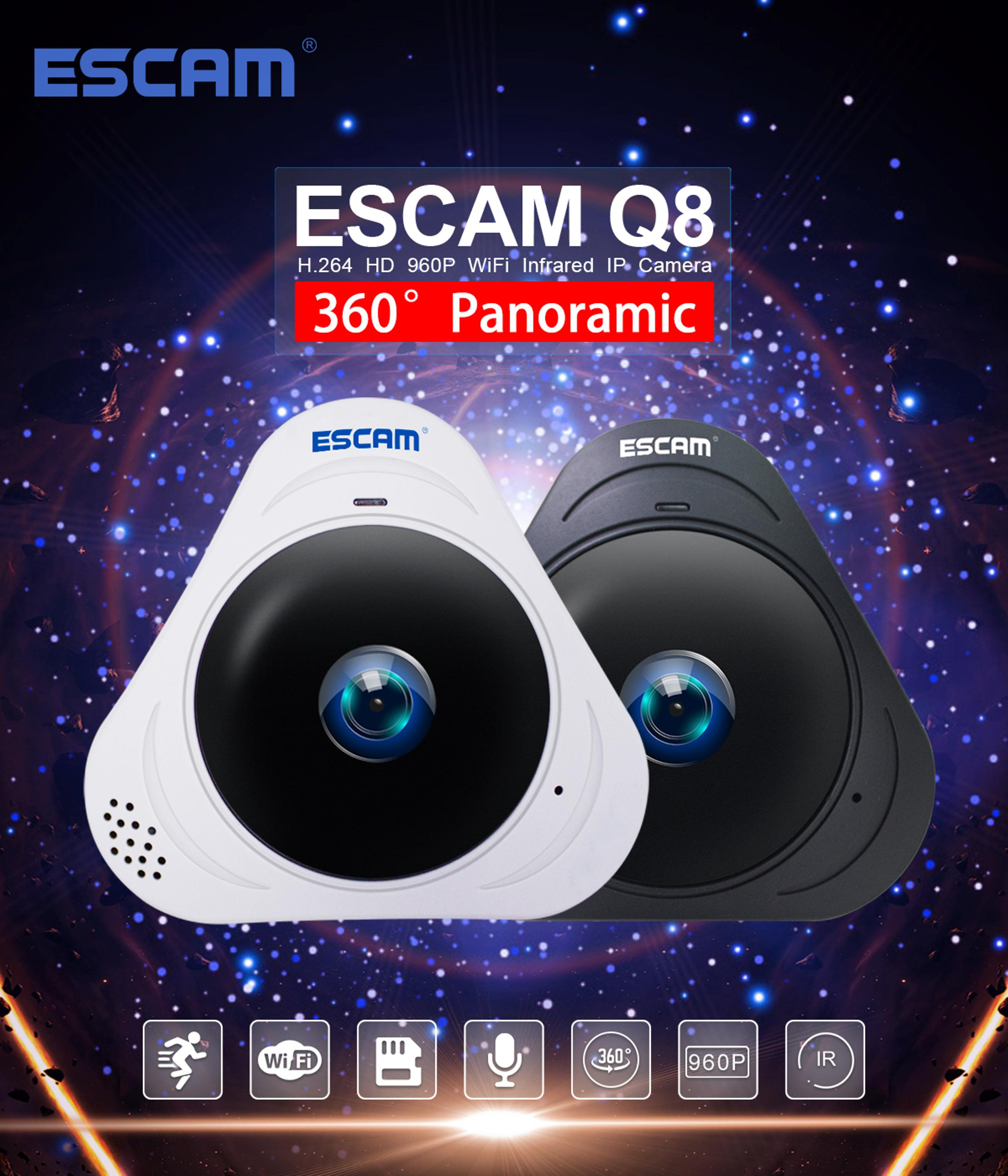 Special style 960P IR-CUT night vision 360 degree panoramic Home Security CCTV Camera with Voice Recorder Q8