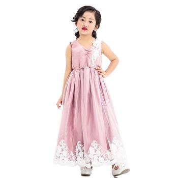 4efb70a7d32 Vogue sleeveless solemn dresses light purple lace flower baby girls holiday  dress
