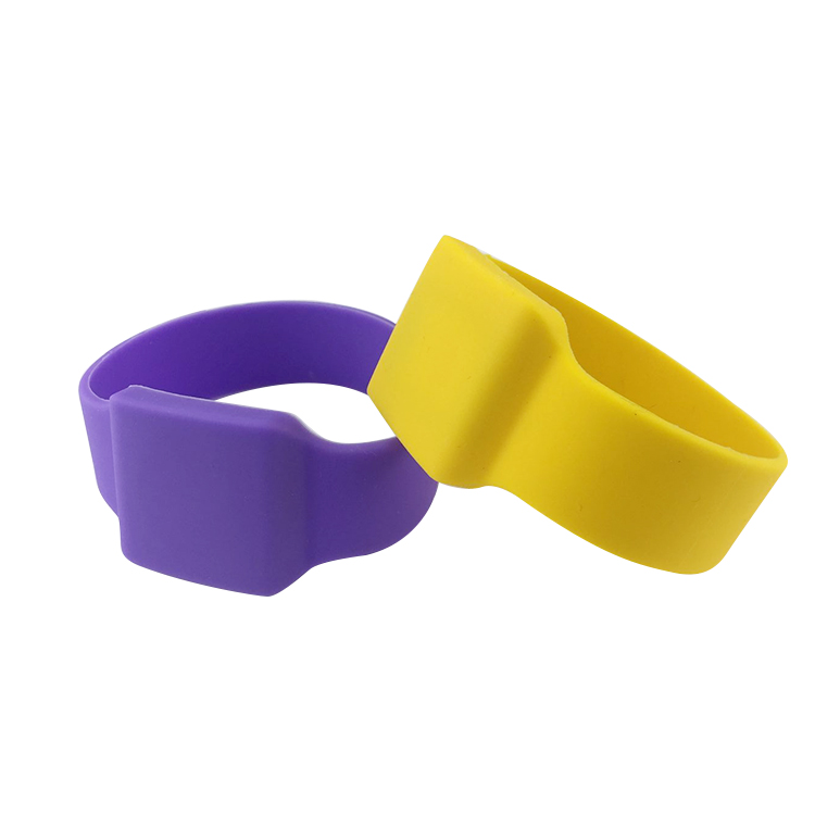 Customized logo Printed waterpark silicone rfid wristband
