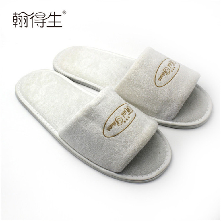 washable hotel indoor guest open toe terry girls slippers
