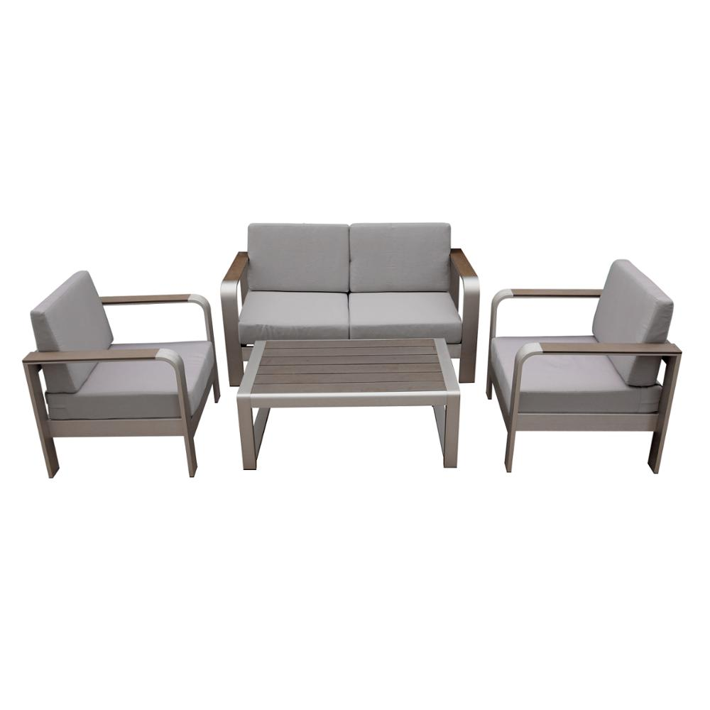 Outstanding Metal Outdoor Garden Furniture Powder Spraying Aluminium Plastic Wood Sofa Set Buy Metal Garden Furniture Plastic Sofa Set Wooden Garden Furniture Theyellowbook Wood Chair Design Ideas Theyellowbookinfo