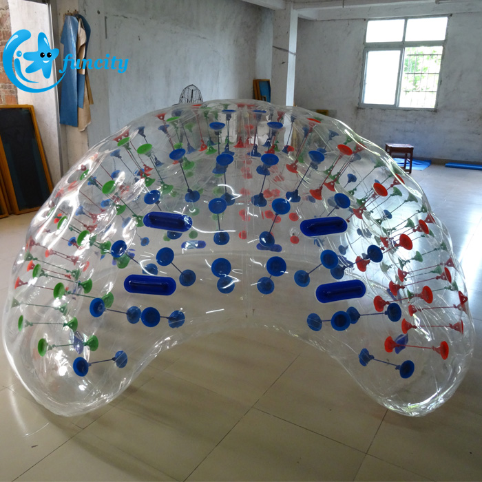 Transparent PVC Soft Handle Adults 1.8M Inflatable Coconut Ball, Inflatable Coco Half Ball, Inflatable Beach Cocoon For Pool