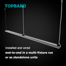 Competitive LED Linear Even Illumination Cable Suspension Surface Mounted Track Light 40W Luminaires 4FT for Supermarket